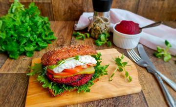 Burger grillitud peedikotletiga