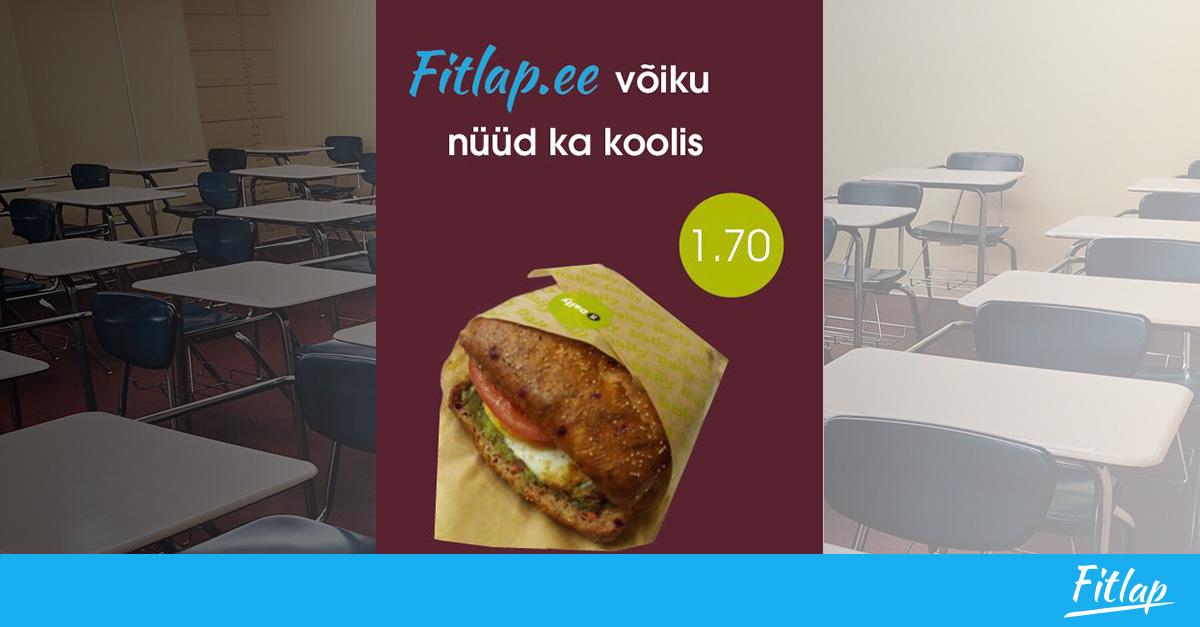 Nüüd saad koolist osta Fitlap võileiba
