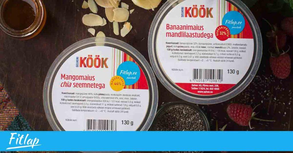 Selveri lettidel uued magustoidud koostöös Fitlap.ee toitumiskavaga